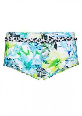 Figi bikini panty bonprix niebiesko-zielony z nadrukiem