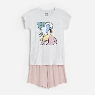 Reserved - Dwuczęściowa piżama Daisy - Jasny szary