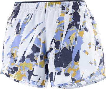 Salomon Agile Shorts Women, biały/kolorowy S 2021 Szorty do biegania