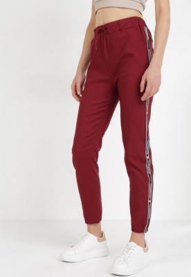 Bordowe Spodnie Joggery Zrixynore