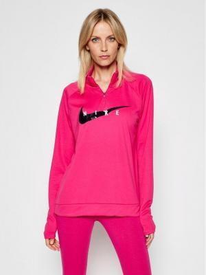 Nike Bluza techniczna Swoosch Run CZ9231 Różowy Standard Fit