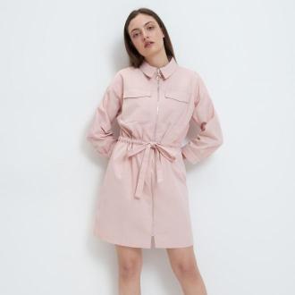 Mohito - Sukienka z wiązaniem w talii - Różowy
