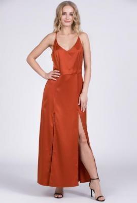 Gładka sukienka koktajlowa