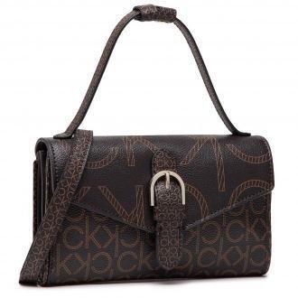 Torebka CALVIN KLEIN - Wallet Mini Bag W/Flap Mono K60K607782 BRW