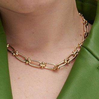 Reserved - Naszyjnik łańcuch - Złoty