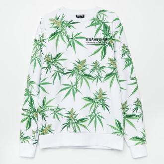 Cropp - Bluza z nadrukiem all over - Biały