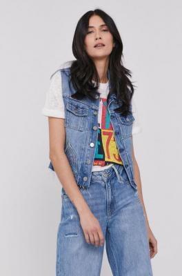 Pepe Jeans - Bezrękawnik jeansowy Elsie