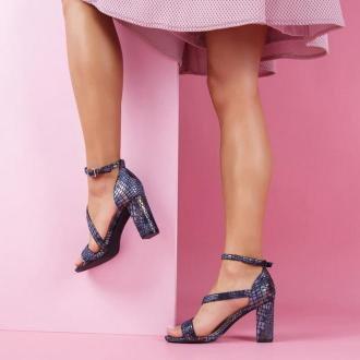 Granatowe sandały damskie SERGIO LEONE SK870 W