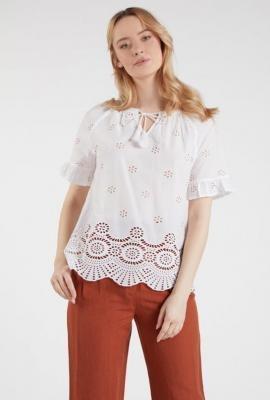 Bluzka z ażurowym wzorem