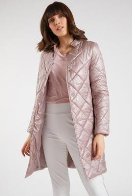 Pikowany płaszcz damski
