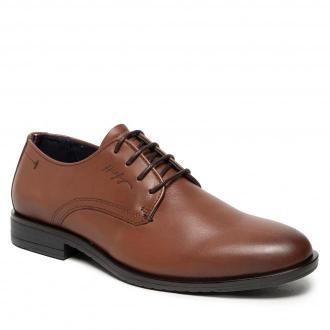 Półbuty TOMMY HILFIGER - Core Leather Lace Up Shoe FM0FM03760  Winter Cognac GVI