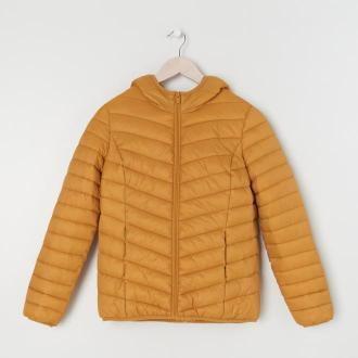 Sinsay - Pikowana kurtka z kapturem ECO AWARE - Żółty