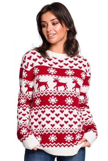 BK039 Sweter z motywem świątecznym - model 2