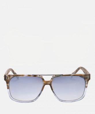 Niebiesko brązowe okulary przeciwsłoneczne