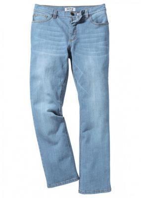 Dżinsy ze stretchem Slim Fit Bootcut bonprix jasnoniebieski denim