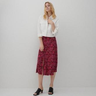 Reserved - Wzorzysta spódnica z wiskozy - Różowy