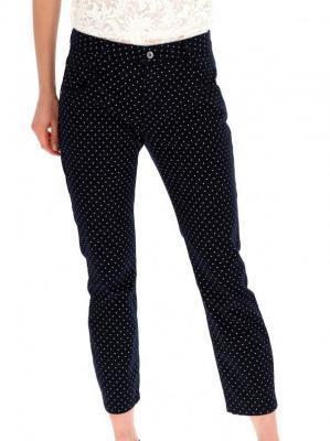 Granatowe spodnie w groszki Red Button 2823.MARTHA.NAVY