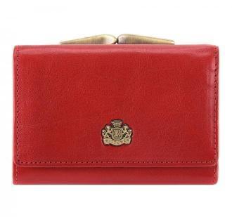 Damski portfel skórzany z herbem na bigiel