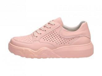 Różowe sneakersy damskie VINCEZA 8700 SKÓRA