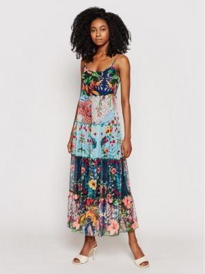 Desigual Sukienka letnia Marnac 21SWVK16 Kolorowy Regular Fit