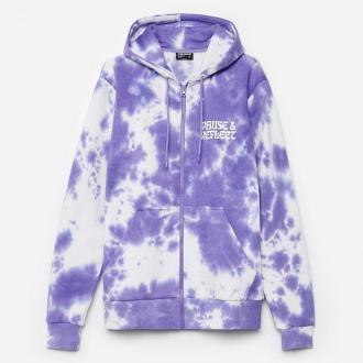 Cropp - Bluza tie dye z kapturem - Fioletowy