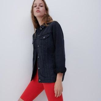 Reserved - Kurtka jeansowa - Czarny