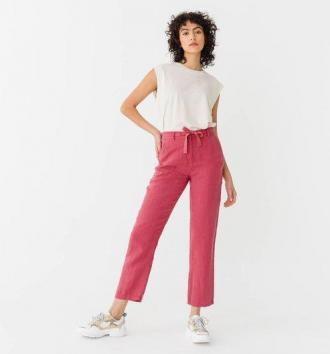 Damskie lniane spodnie