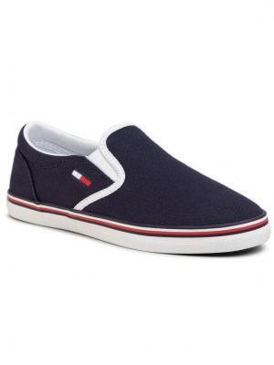 Tommy Jeans Tenisówki Essential Slip On Sneaker EN0EN00782 Granatowy