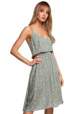 Sukienka na cienkich ramiączkach w kwiaty