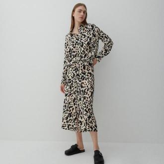 Reserved - Wzorzysta spódnica z wiskozy - Beżowy