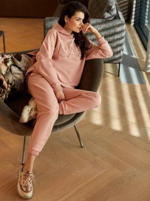 Dresowe różowe spodnie z kieszeniami L'AF DIX