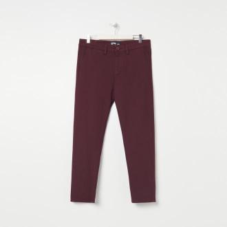 Sinsay - Spodnie comfort cropped fit - Bordowy