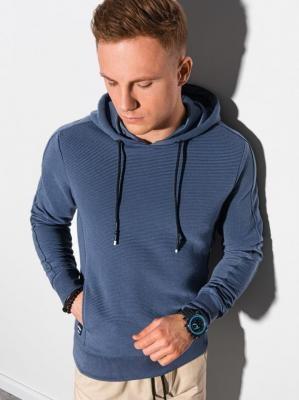 Bluza męska z kapturem B1155 - ciemnoniebieska - XXL