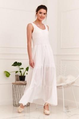 Letnia sukienka na ramiączkach biała 6178