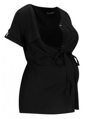 Bluzka ciążowa i do karmienia LENZING™ ECOVERO™ bonprix czarny