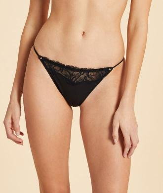Upside Majtki Bikini Z Koronki - Czarny - Etam