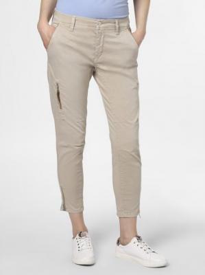 MAC - Spodnie damskie – Rich cargo cotton, beżowy