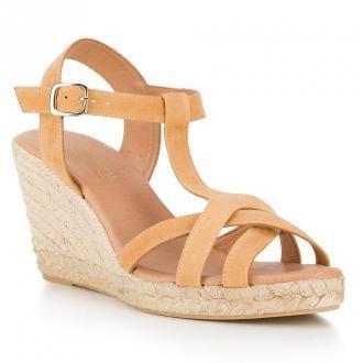 Damskie sandały espadryle z zamszu