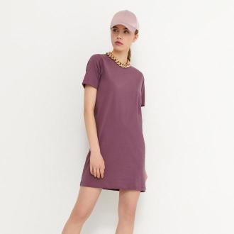 House - T-shirtowa sukienka z bawełny organicznej - Fioletowy