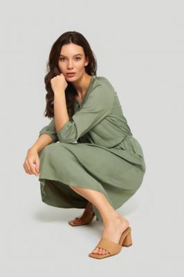 Długa sukienka z lyocell'u