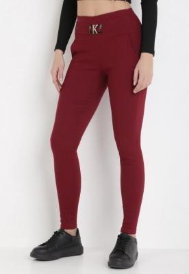 Bordowe Spodnie Skinny Kakabel