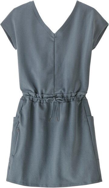 Patagonia Organic Cotton Roaming Dress Women, szary L 2021 Sukienki