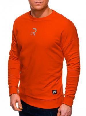 Bluza męska bez kaptura 1231B - pomarańczowa - XL