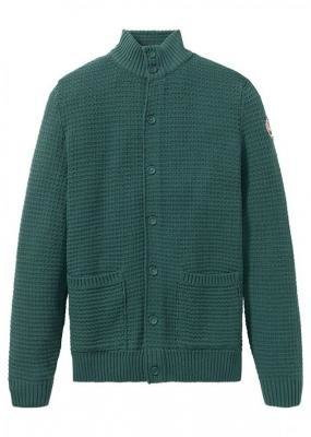 Sweter rozpinany bonprix zielony