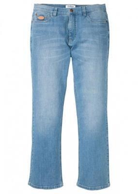 Dżinsy ze stretchem Regular Fit Bootcut bonprix jasnoniebieski denim