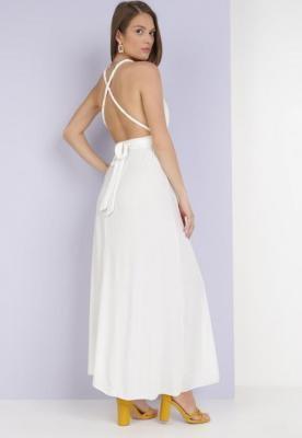 Biała Sukienka Adratai