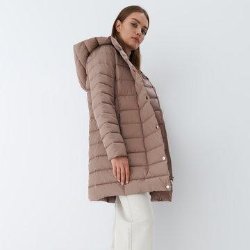 Mohito - Pikowany płaszcz Eco Aware - Brązowy