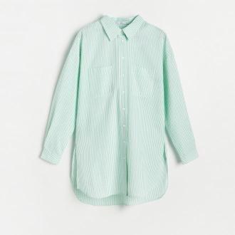 Reserved - Koszula w paski - Zielony