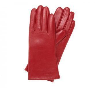 Rękawiczki damskie ze skóry gładkie