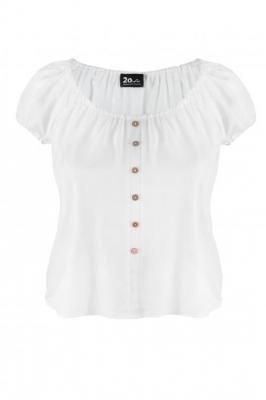 VANESSA WHITE zwiewna bluzka plus size na lato : size - 60/62